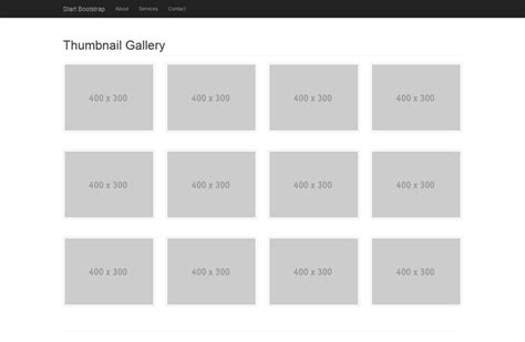 bootstrap gallery template 14 free ecommerce templates photo gallery images e