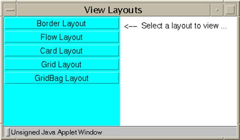 layout in java applet exploring the awt layout managers