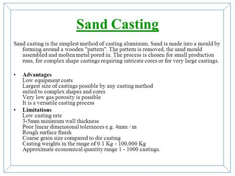 advantages of split pattern in casting type of casting process ppt video online download