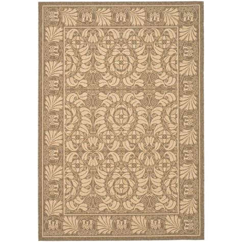 4 X 5 Area Rugs Safavieh Courtyard Coffee Sand 4 Ft X 5 Ft 7 In Indoor Outdoor Area Rug Cy5146b 4 The Home