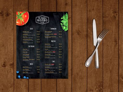 modern menu template free cafe bistro flyer template 187 designtube creative