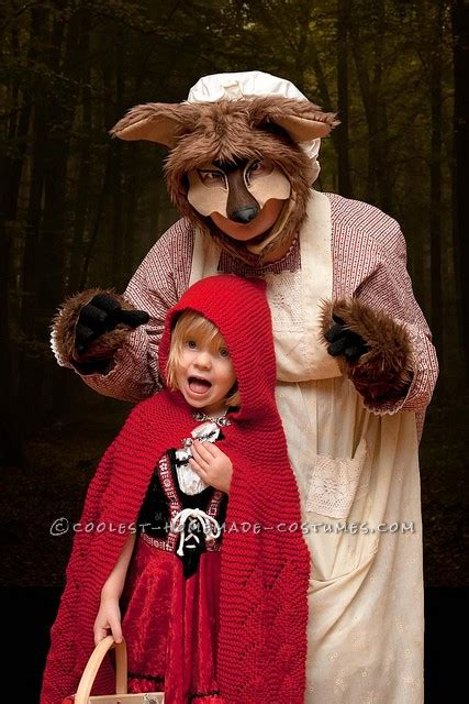 scary homemade big bad wolf costume