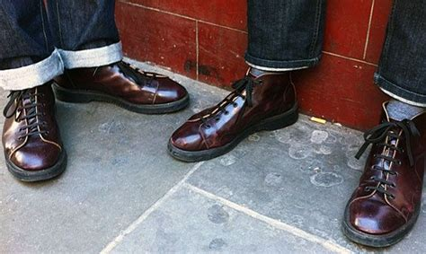 Sepatu Converse Reggae dr marten quot church boot quot in burgandy skins not so sussed and skinhead things