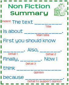 nonfiction summary poster for grades 3 6