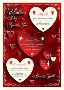 Valentines Day Templates by Valentines Day Flyer And Menu Template Psd Design