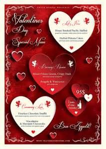 day menu template valentines day menu template v1 psd templates store