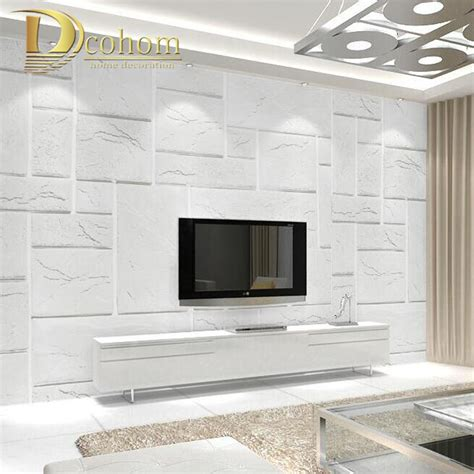 White Brick Wallpaper Bedroom by High Quality Embossed Yellow White Brick Wallpaper For