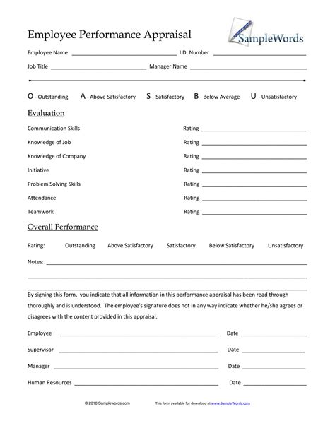 Appraisal Release Letter Performance Appraisal Form Format Sales Inquiry Letter Liability Release Form Template Free