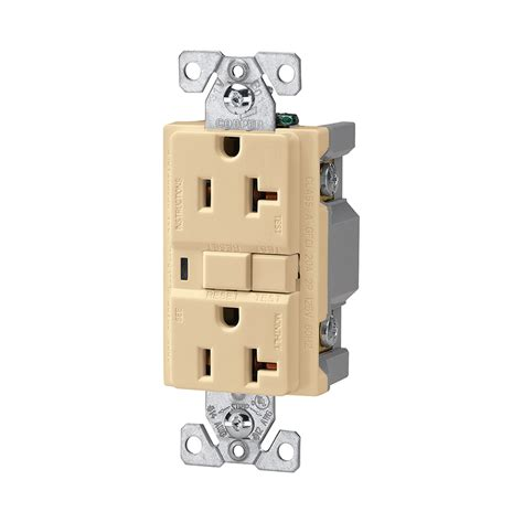 shop cooper wiring devices 20 ivory decorator gfci
