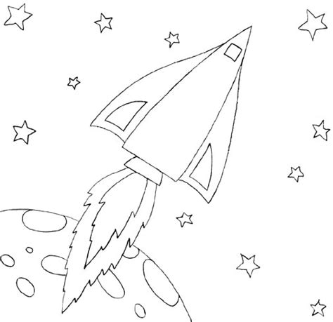 free coloring pages of rocket ships