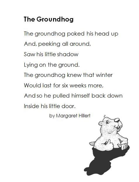 groundhog day poetry it s about time teachers groundhog day 3 0