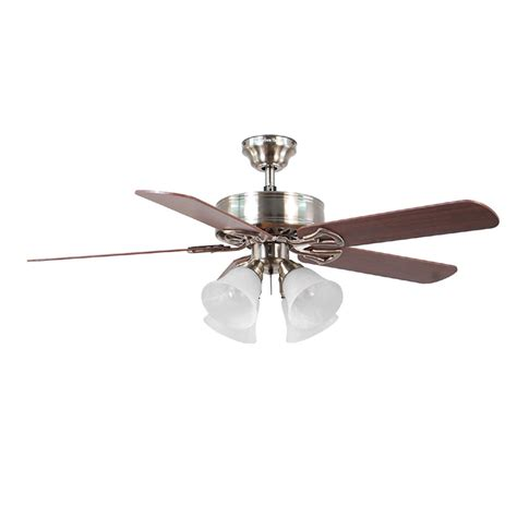 harbor breeze ceiling fans with lights shop harbor breeze springfield ii 52 in brushed nickel