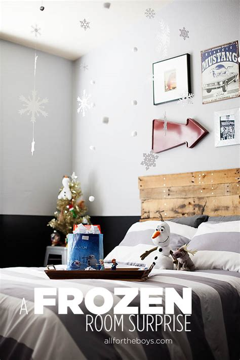 frozen inspired bedroom a frozen bedroom surprise all for the boys