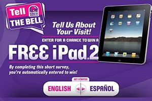 Tell The Bell Sweepstakes - tell taco bell survey prize wink24news