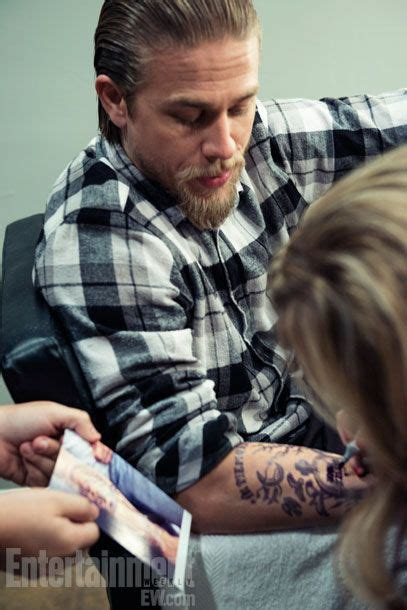 Charlie Hunnam Sons Of Anarchy And Ryan Hurst On Pinterest Are Hunnam Tattoos Real