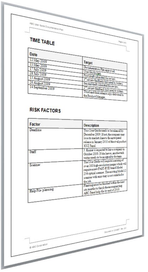 technical documentation template how to write a documentation plan technical