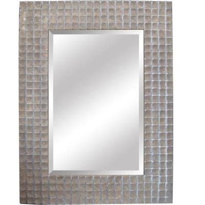 framed bathroom mirrors bath the home depot yosemite home decor 37 in x 50 in rectangular decorative