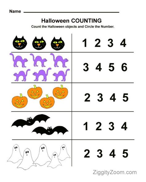 printable halloween games for preschoolers halloween counting preschool worksheet math fun