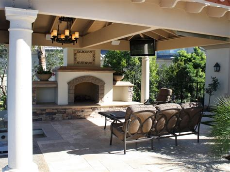 outdoor living room with fireplace photo page hgtv