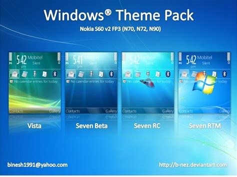 nokia themes windows vista windows theme pack for s60 by b nez on deviantart