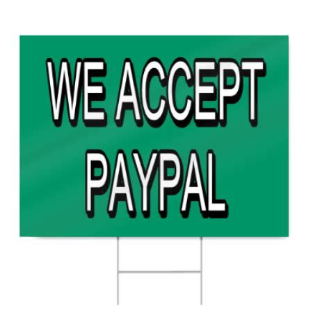 Search That Accepts Paypal We Accept Paypal Lettering Sign Signstoyou