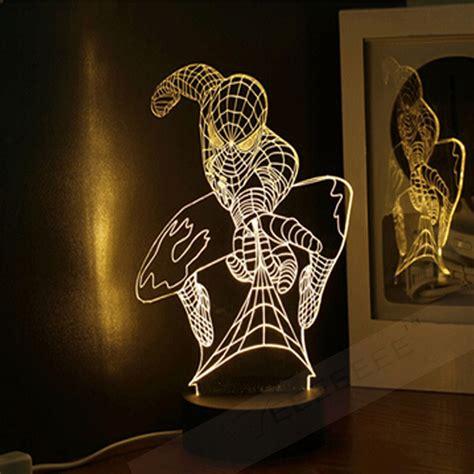 Lu Spider Lighting free shipping marvel spider 3d tabel l