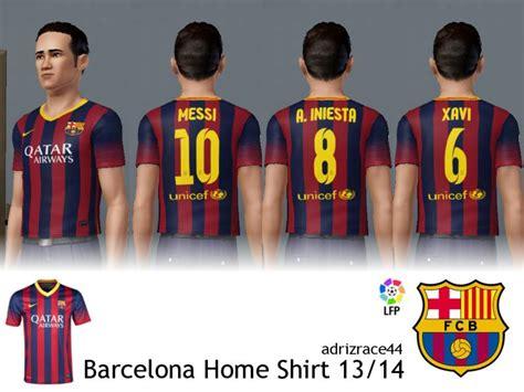 Barcelona Home 13 14 adrizrace44 s barcelona home shirt 13 14