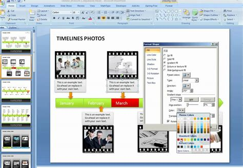How To Create A Graphical Timeline In Powerpoint Youtube How To Make A Timeline In Powerpoint 2010