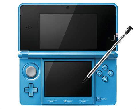 3ds nintendo console consoles nintendo 3ds aqua blue console with stylus