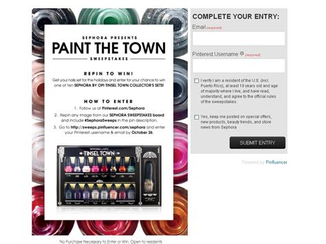 What Is Sephora Sweepstakes - sephora presents paint the town sweepstakes