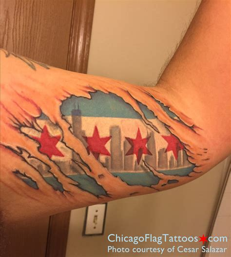 tattoos chicago chicago flag tattoos