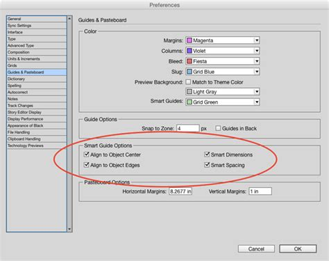guide layout indesign tip of the week customizing smart guide options