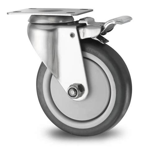 rotelle per mobili ruota girevole con freno 216 125mm gomma termoplastica