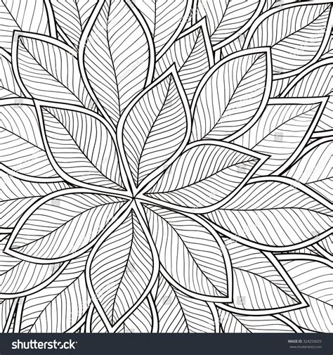 ethnic black of on grey stock vector image pattern coloring book leaves ethnic floral stock vector