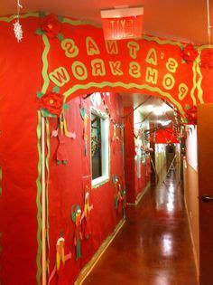 santa workshop cubicles ideas andres and abigail s santa s workshop themed entrance santa s factory themed