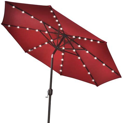 Umbrella With Solar Lights by Solar Led Umbrella Gadgetking