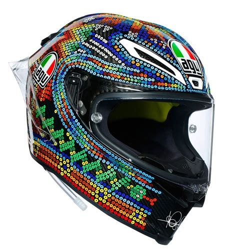 agv pista gp  kask limited edition rossi winter test