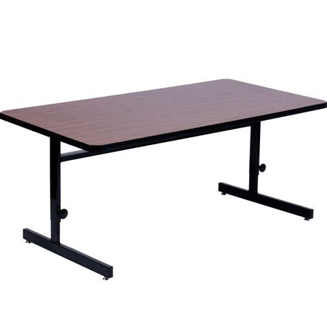 24 x 60 table 24 x 60 inch computer table adjustable height in desks