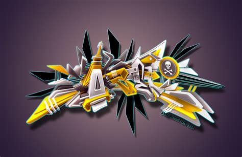 imagenes en 3d grafitis 3d graffiti