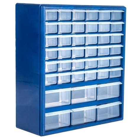 Storage Box Organizer Stalwart 42 Compartment Storage Box Small Parts Organizer 75 3021 The Home Depot