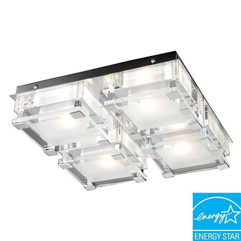 Clear Glass Flush Mount Ceiling Light Plc Lighting 4 Light Ceiling Polished Chrome Flush Mount With Clear Glass Cli Hd18149pc The