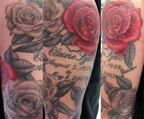 rose tattoo arm half sleeve tattoos cool tattoos bonbaden