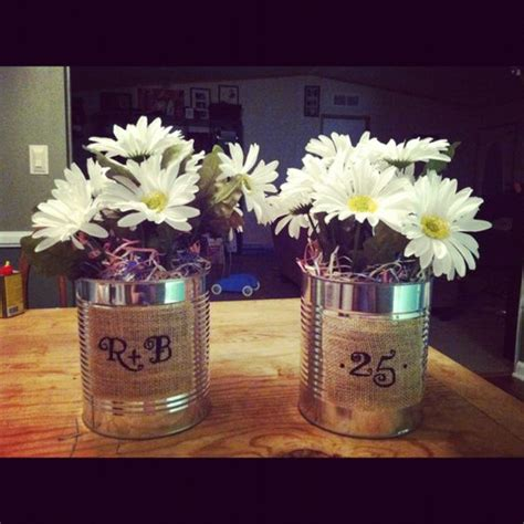 25th anniversary daisies and masons on pinterest