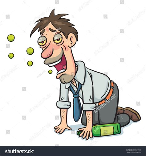 cartoon drinking alcohol vector cartoon drunk businessman green alcohol stock