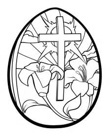 easter color easter egg coloring pages printable lilies and cross