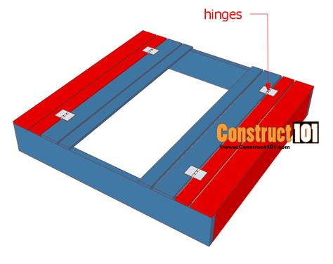sandbox with bench lid sandbox plans with bench lid construct101