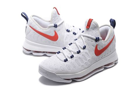 basketball shoe for sale nike kd 9 usa white race blue basketball