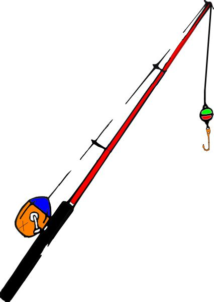 rod clipart fishing pole fsf clip at clker vector clip