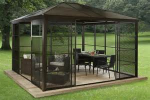 Metal Pergola Kits by 27 Gazebos With Screens For Bug Free Backyard Relaxation