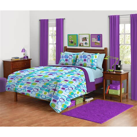 your zone mod squares reversible comforter set walmart com